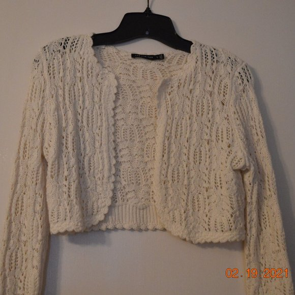 The Limited White Sweater Shrug Size S